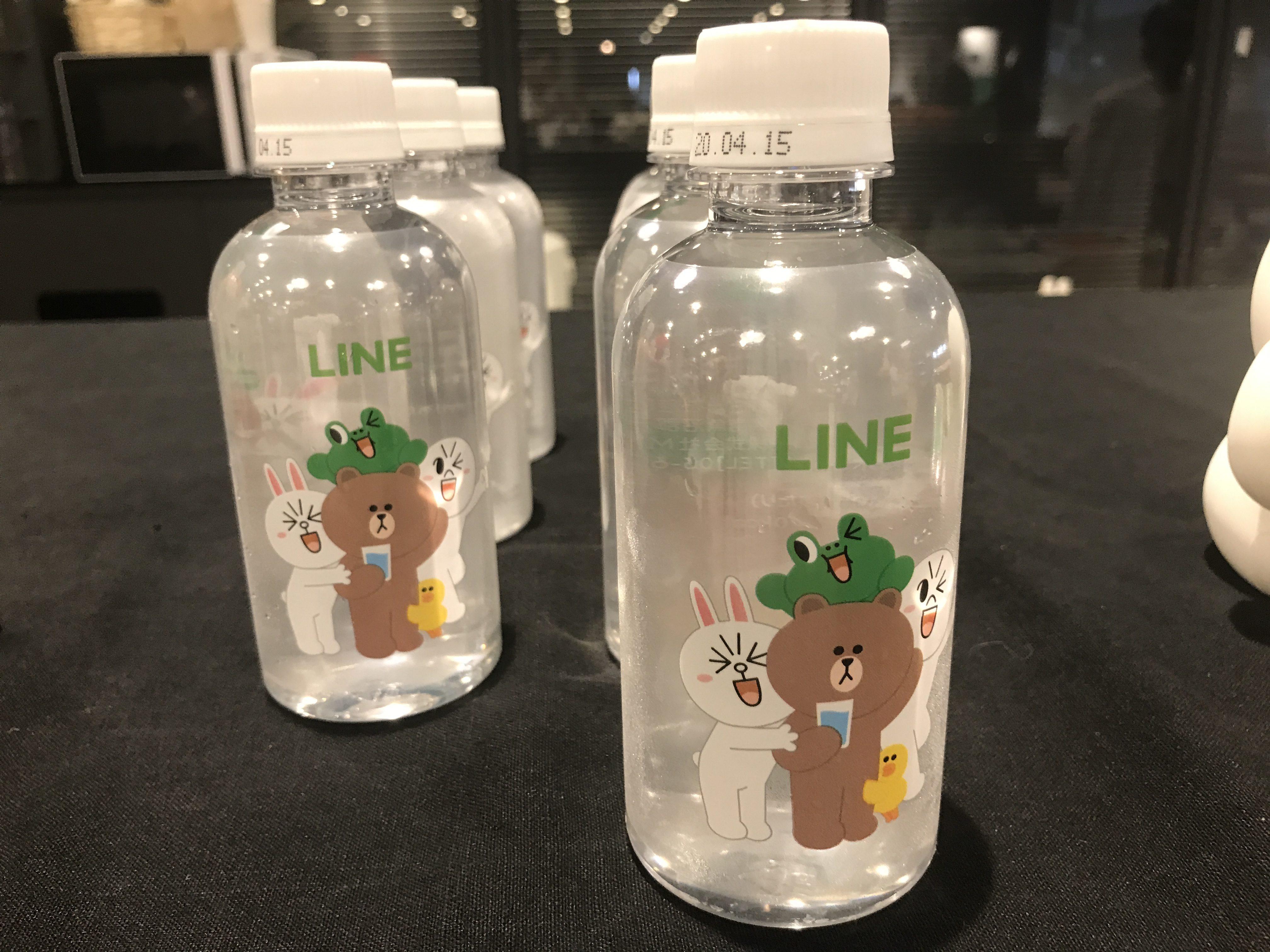 LINE公式アカウントセミナーでは水のペットボトルも可愛い