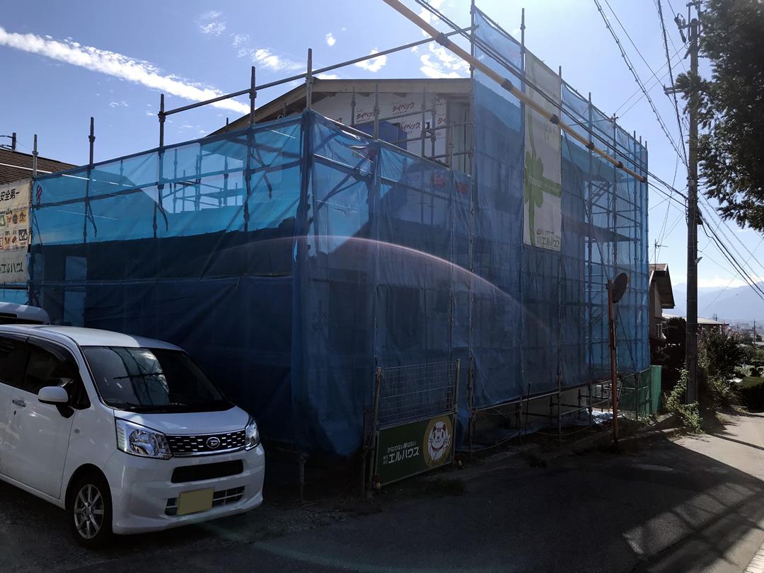 長野県茅野市工務店エルハウス工事現場
