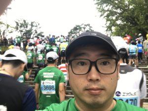 さあこれから第3回松本マラソン走りますよ