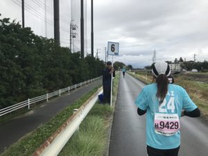 第3回松本マラソン6キロ地点です。まだ走れます