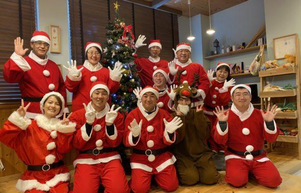 サンタクロースの集合写真