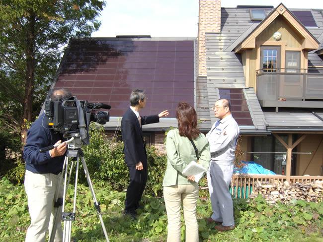 ABN長野県の朝日放送で取材