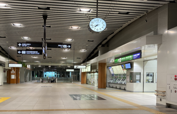 緊急事態宣言時の松本駅
