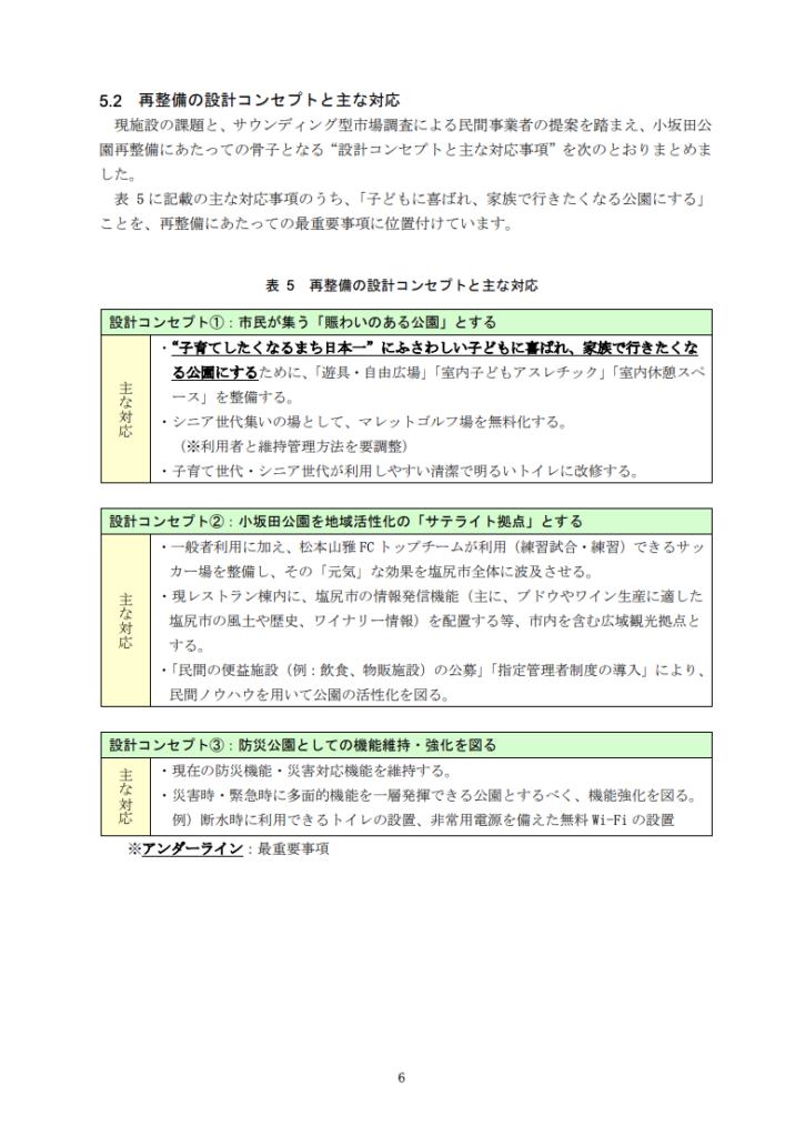 塩尻市小坂田公園再整備計画書