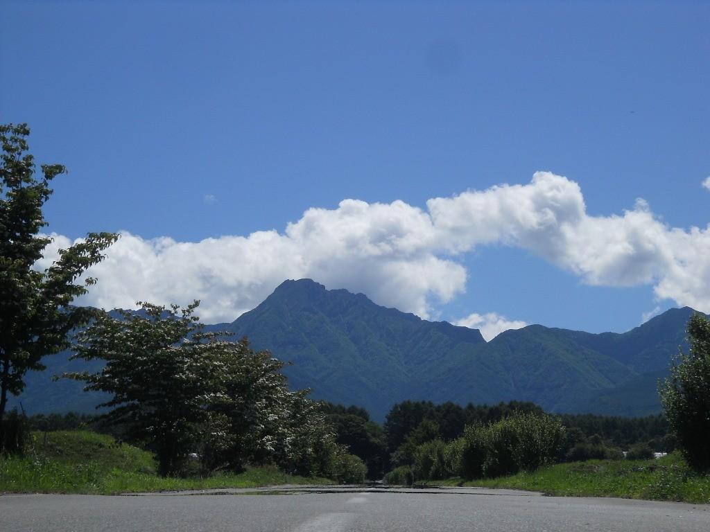 諏訪郡原村に向かう途中の風景
