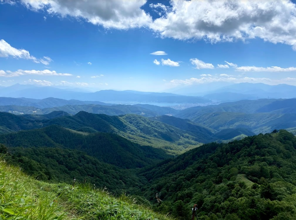 三峰山の頂上