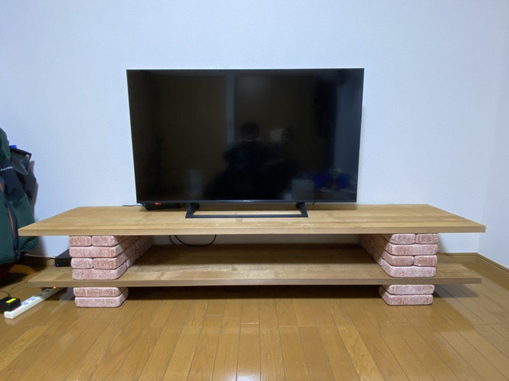 DIYしたテレビボード