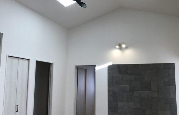 勾配天井の平屋