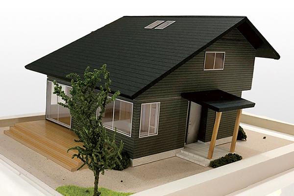 テレワークの家 外観模型