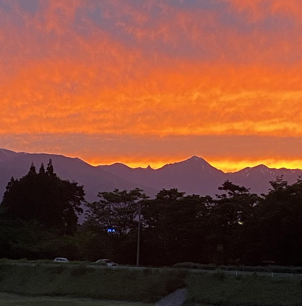 松本市内の夕焼け