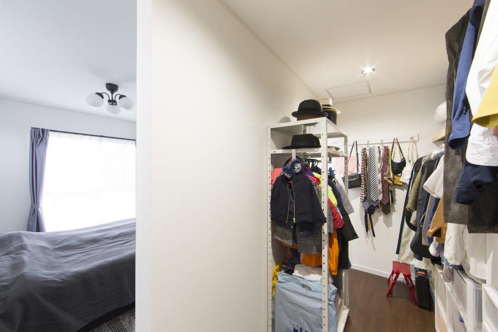 クローゼット寝室施工例