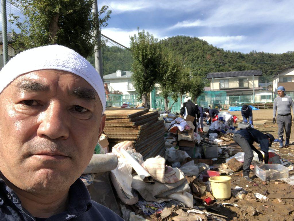 「長野市・千曲川氾濫」の際のボランティア活動の様子